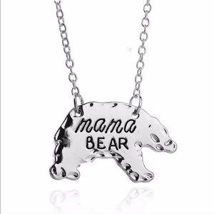 Mama Bear Silver finish necklace 💍